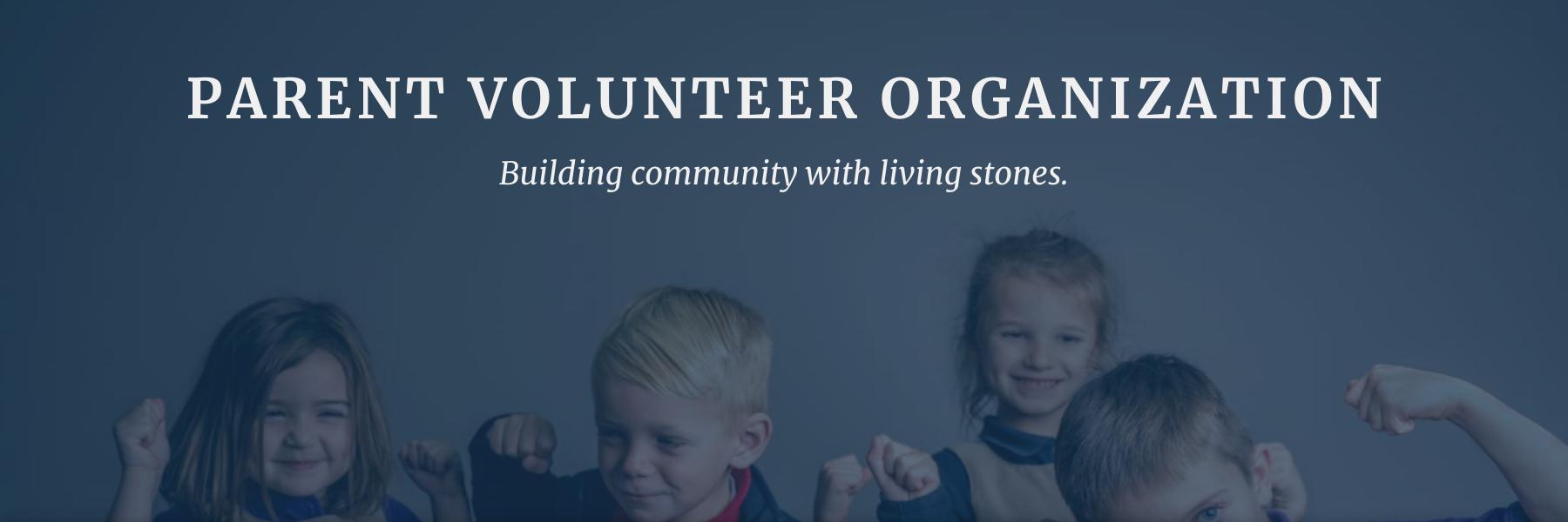 Faith Christian School Parent Volunteer Organization Hero Image